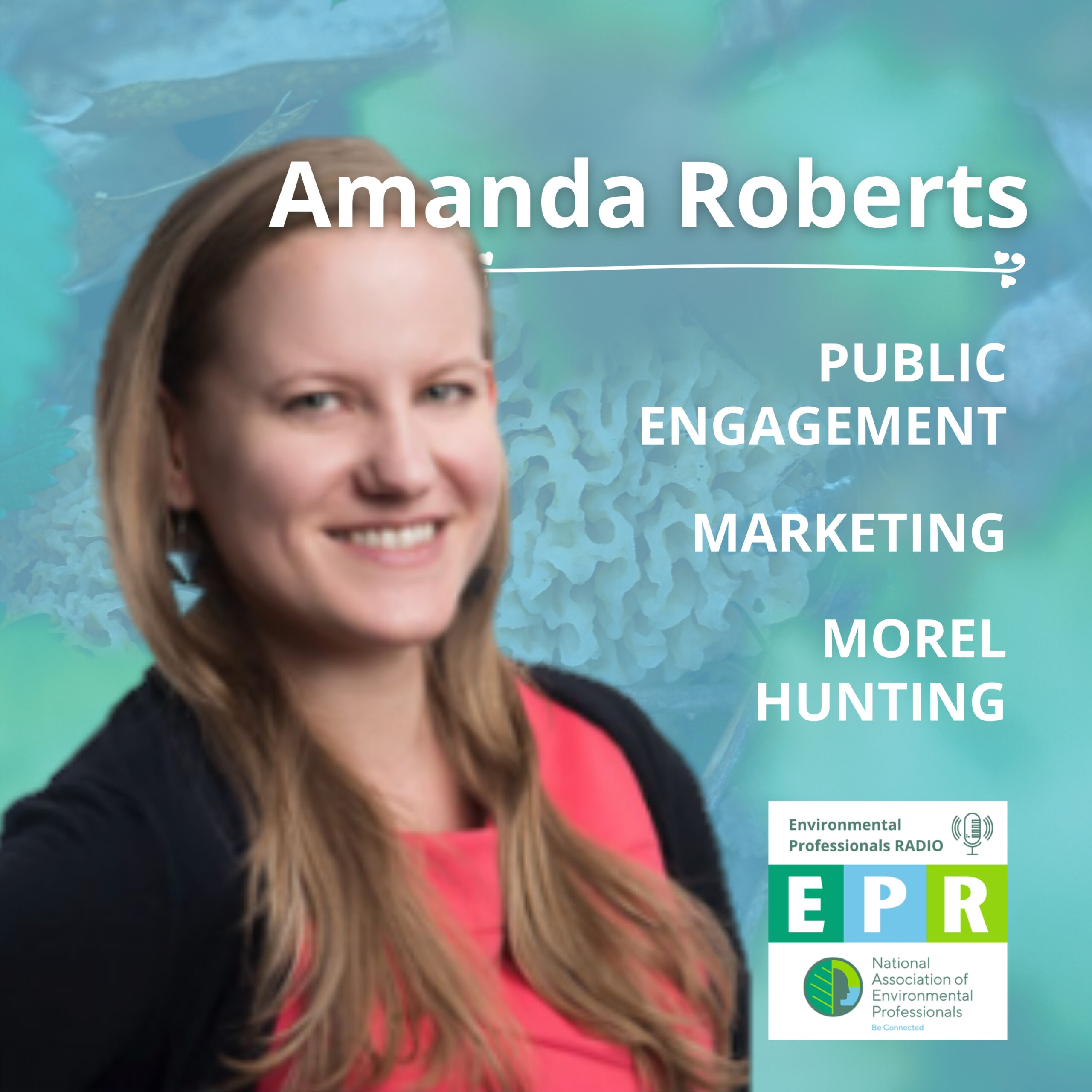 Promotional image for the NAEP podcast featuring the headshot of Amanda Roberts